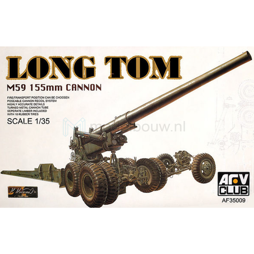 Long Tom M59 155 mm cannon 1/35