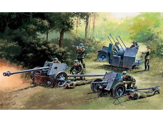 German Guns-Set: PAK35-PAK40-FLAK38 1/72
