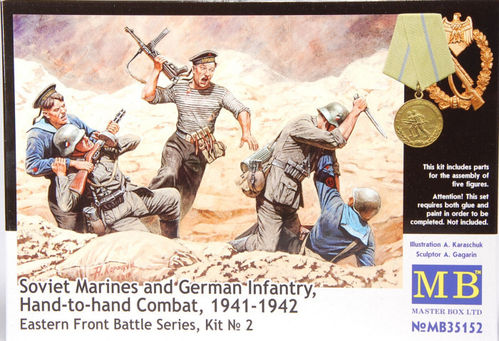 Soviet Marines and Geman Infantry, hand-to-hand Combat 1/35