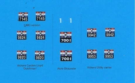 Decals: Dutch East Indies Army 1941 1/35
