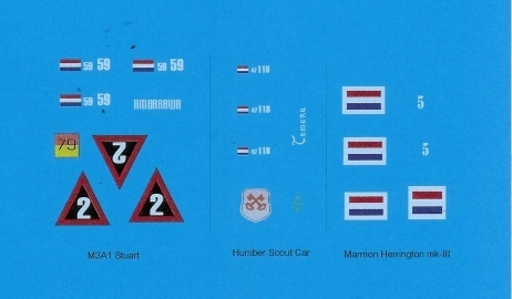 Decals: Dutch East Indies Army 1945 - 1949 1/35