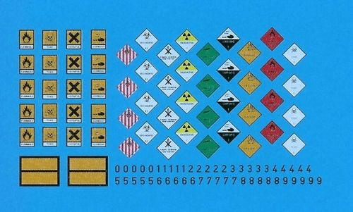 Decals: Hazardous goods warning signs 1/35