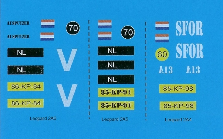 Decals: Modern Dutch Army: Leopard 2A4/5/6 1/35