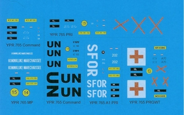 Decals: Modern Dutch Army: YPR-765 1/72