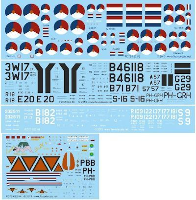 Decals Royal Netherlands Air Force Hostorical Flight 1/72