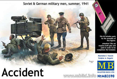 Accident. Soviet & German Militairy Men, summer 1941 1/35