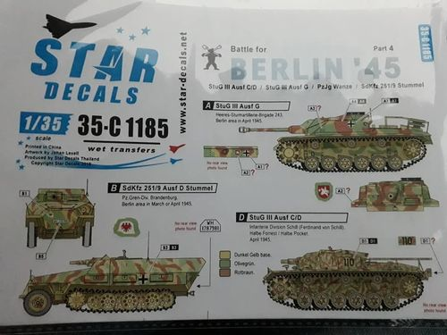 Decals Battle for Berlin '45 1/35