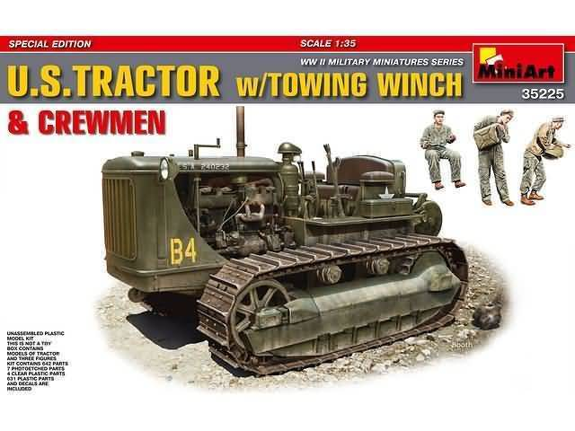 U.S. Tractor w/Towing Winch & Crew 1/35