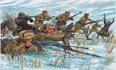 WWII Russian Infantry (Winter Uniform) 1/72
