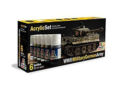 WWII Military German Army paint set 6 st.