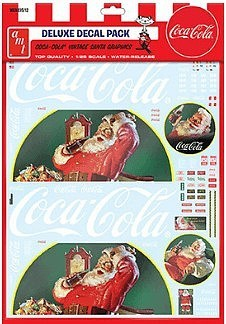 Vintage Coca Cola Santa Clause Big Rig Graphics 1/25