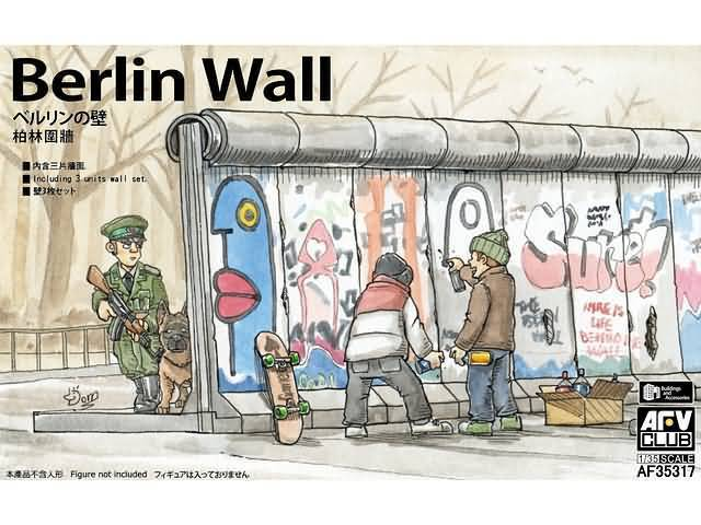 Berlin Wall (3 unit wall set) 1/35