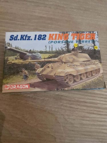 Mini Armor sd. Kfz.182 King Tiger (porsche turret) 1/144