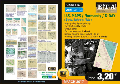 US Maps D-Day Normandy 1/72