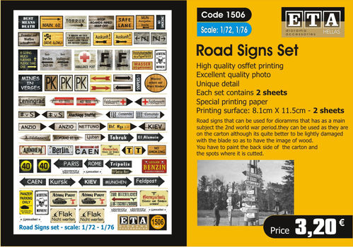 Road Sign Set 1/72