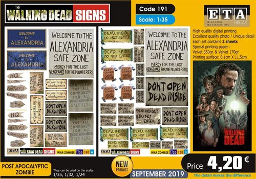 Walking Dead signs 1/35