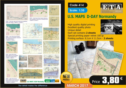 US Maps D-Day Normandy 1/35
