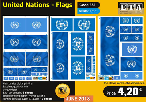 United Nations Flags 1/35