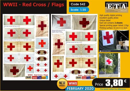 WWII Red Cross Flags 1/35