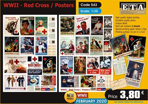 WWII Red Cross Posters 1/35