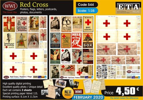 WWI Red Cross Posters and Flags 1/35