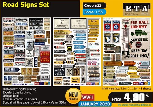 WWII Road Sign Set 1/35