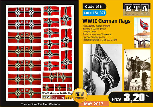 WWII German Battle Flag 1/72