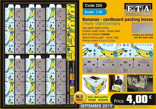 Bananas Cardboard Packing boxes 1/35