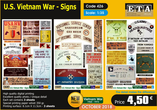 US Vietnam War Signs 1/35