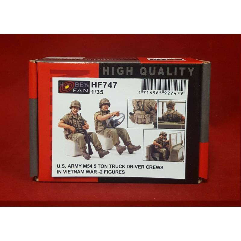 US Army M54 5 Ton Truck Drivers Crew in Vietnam (2 figuren) 1/35