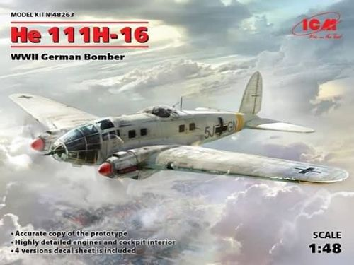 He 111H-16, WWII German Bomber 1/48