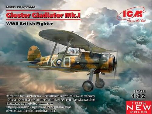 Gloster Gladiator Mk.I, WWII British Fighter  1/32