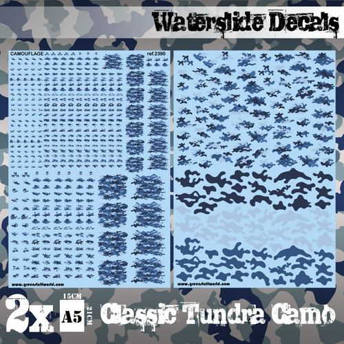 Waterslide Decals - Classic Tundra Camo  (1/58-1/54-1/32)